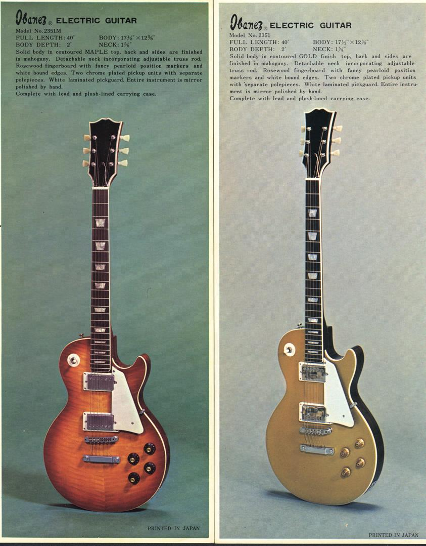 Tell Me About 1971 Ibanez Les Paul Goldtops The Gear Page