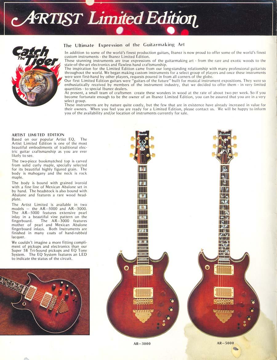 1981 Ibanez Electric Guitars Catalog Brass Beauties Ar5000 Pin Guitar Pickup Wiring Diagrams On Pinterest